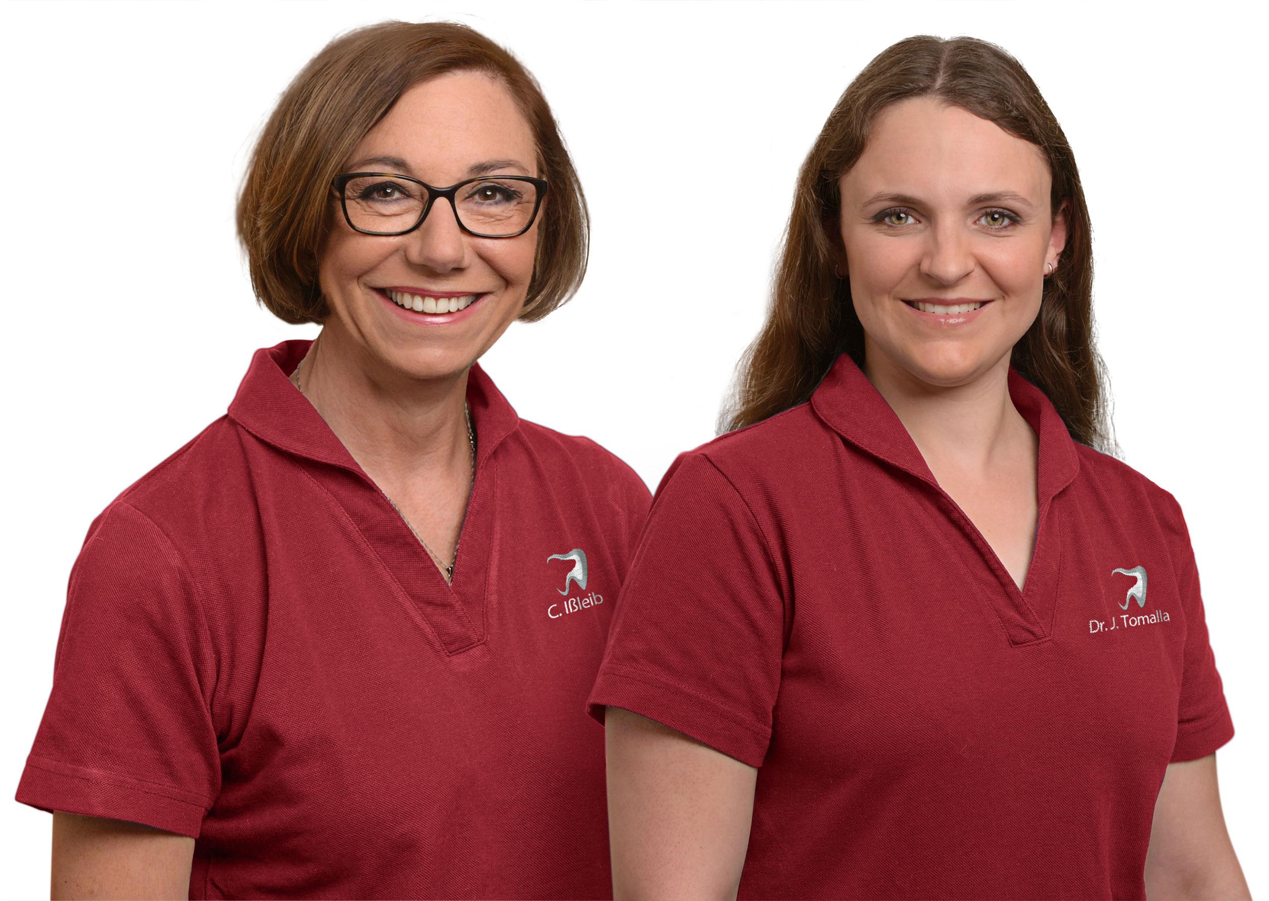 Dr. med. dent. Julia Tomalla, Zahnärztin Claudia Ißleib